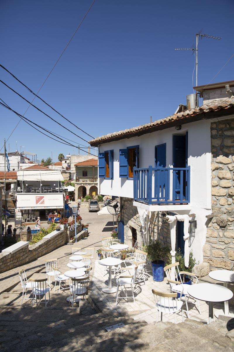 Terrasse à Afitos sur Kassandra en Grèce
