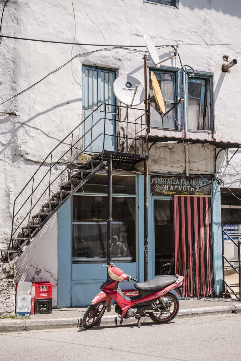 Magasin de la ville d'Echinos dans la Thrace en Grèce