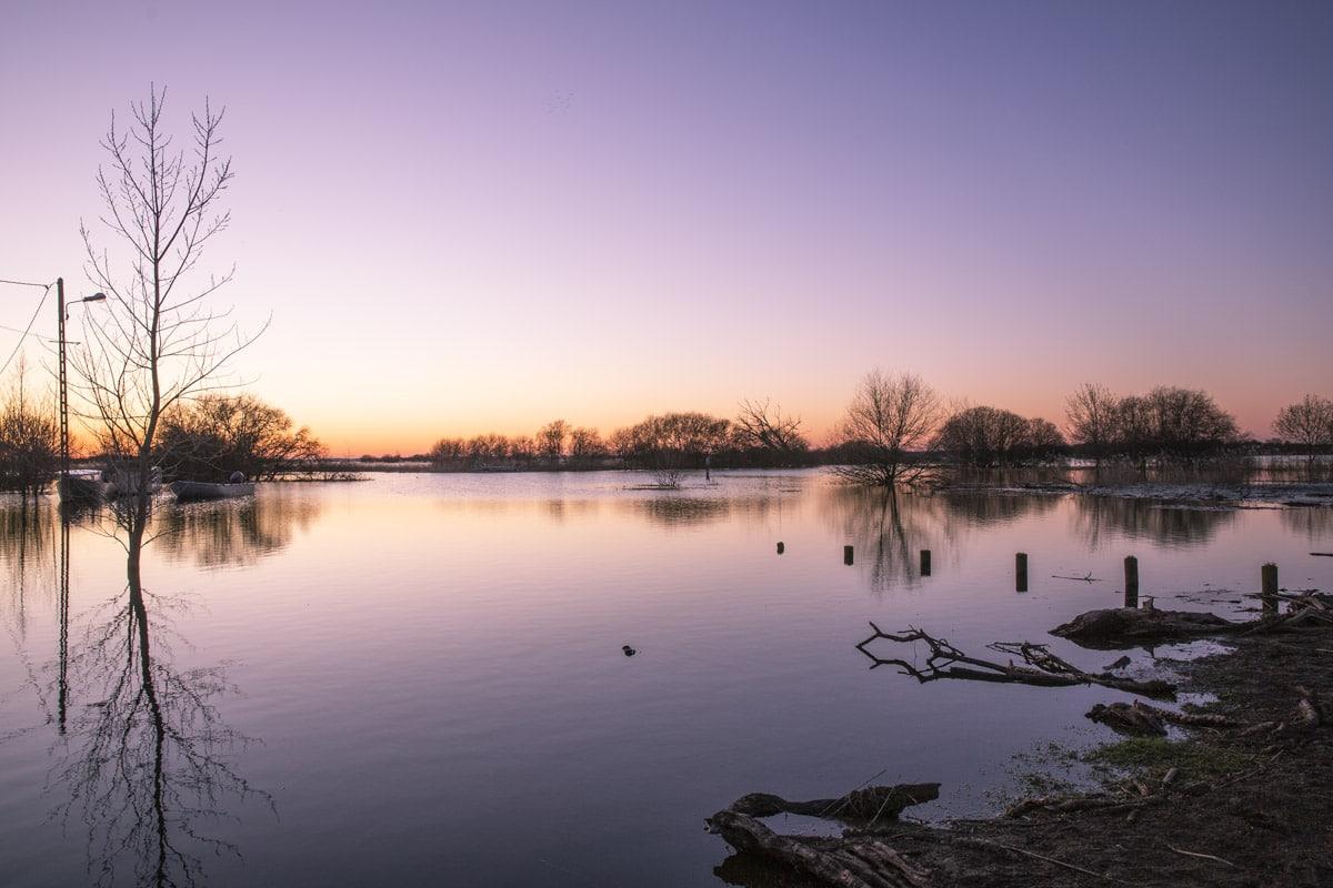 Coucher de soleil sur le lac de grand Lieu à Passay - Loire Atlantique