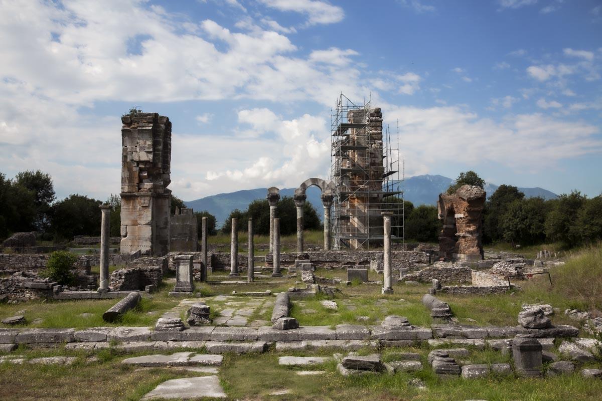 Site archéologique de Philippes en Grèce, classé au patrimoine mondial de l'Unesco