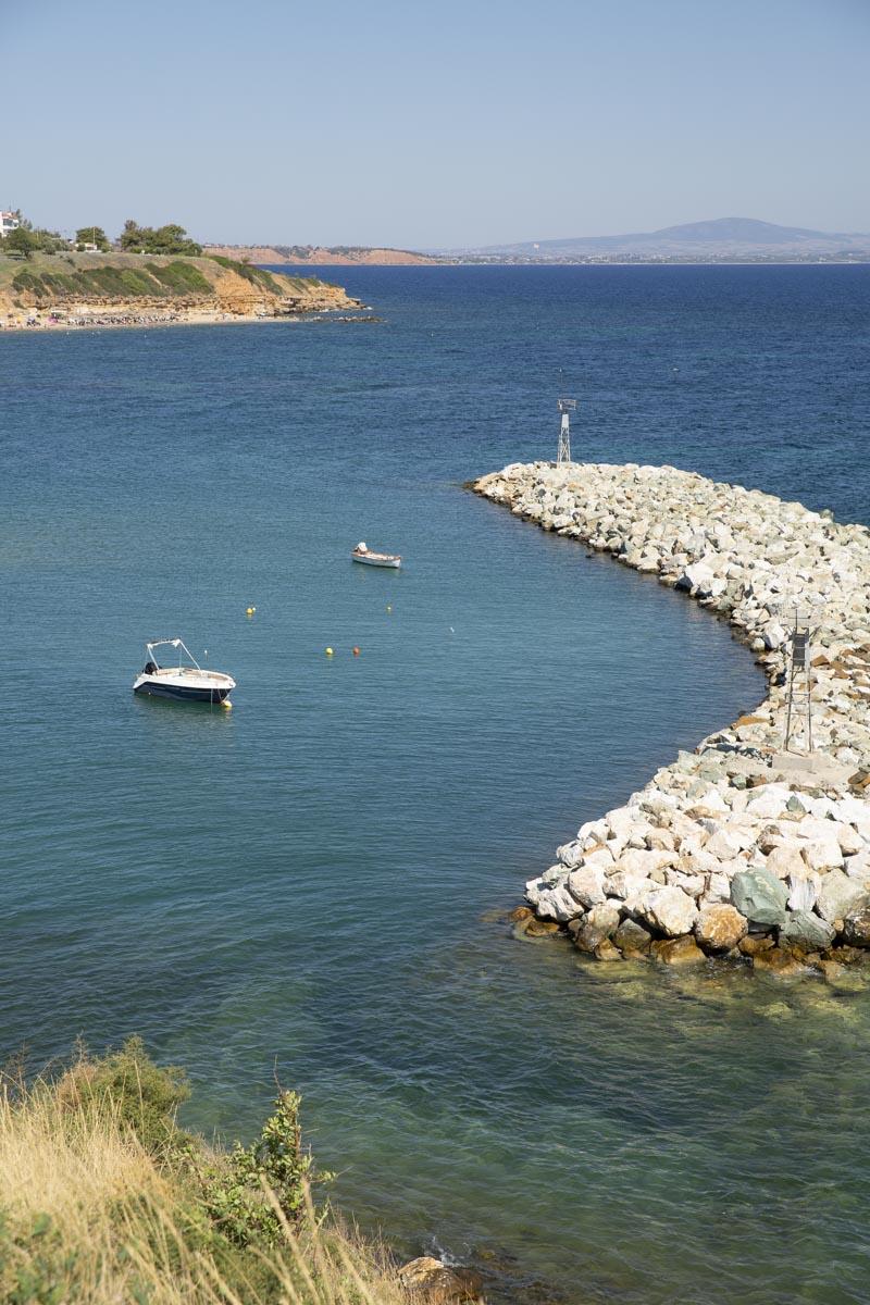 Petit port de Néa Fokea en Grèce