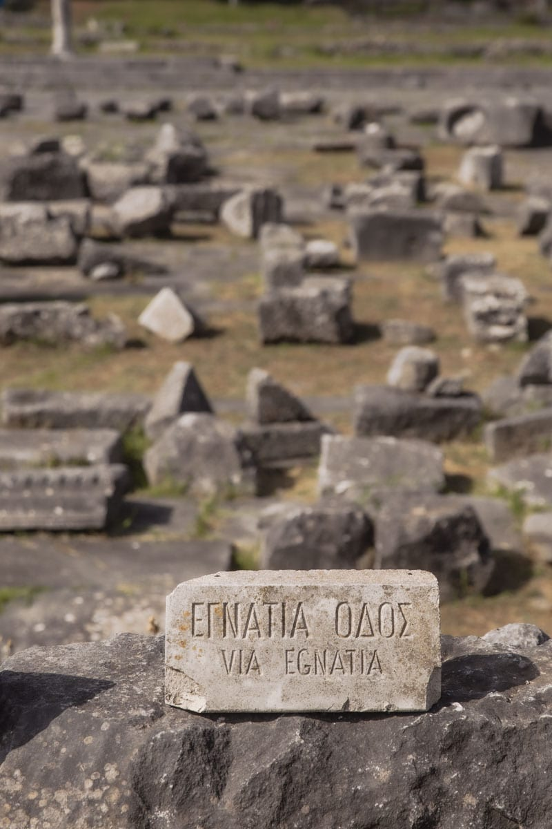 La via Egnatia traverse le site de Philippes en Grèce