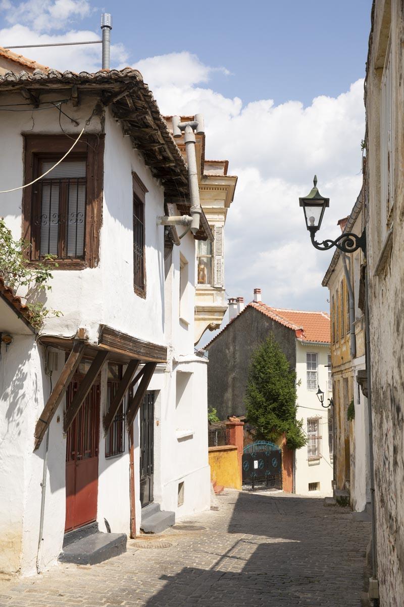 Rue de Xanthi dans la Thrace en Grèce