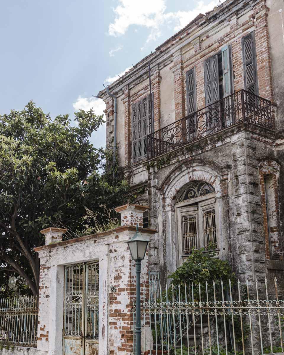 Très belle façade d'une maison de Xanthi construite par un marchand de tabac
