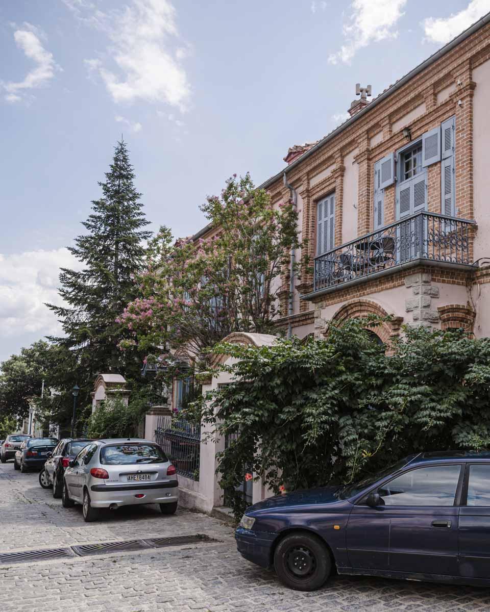 Sublime façade dans la vieille ville de Xanthi