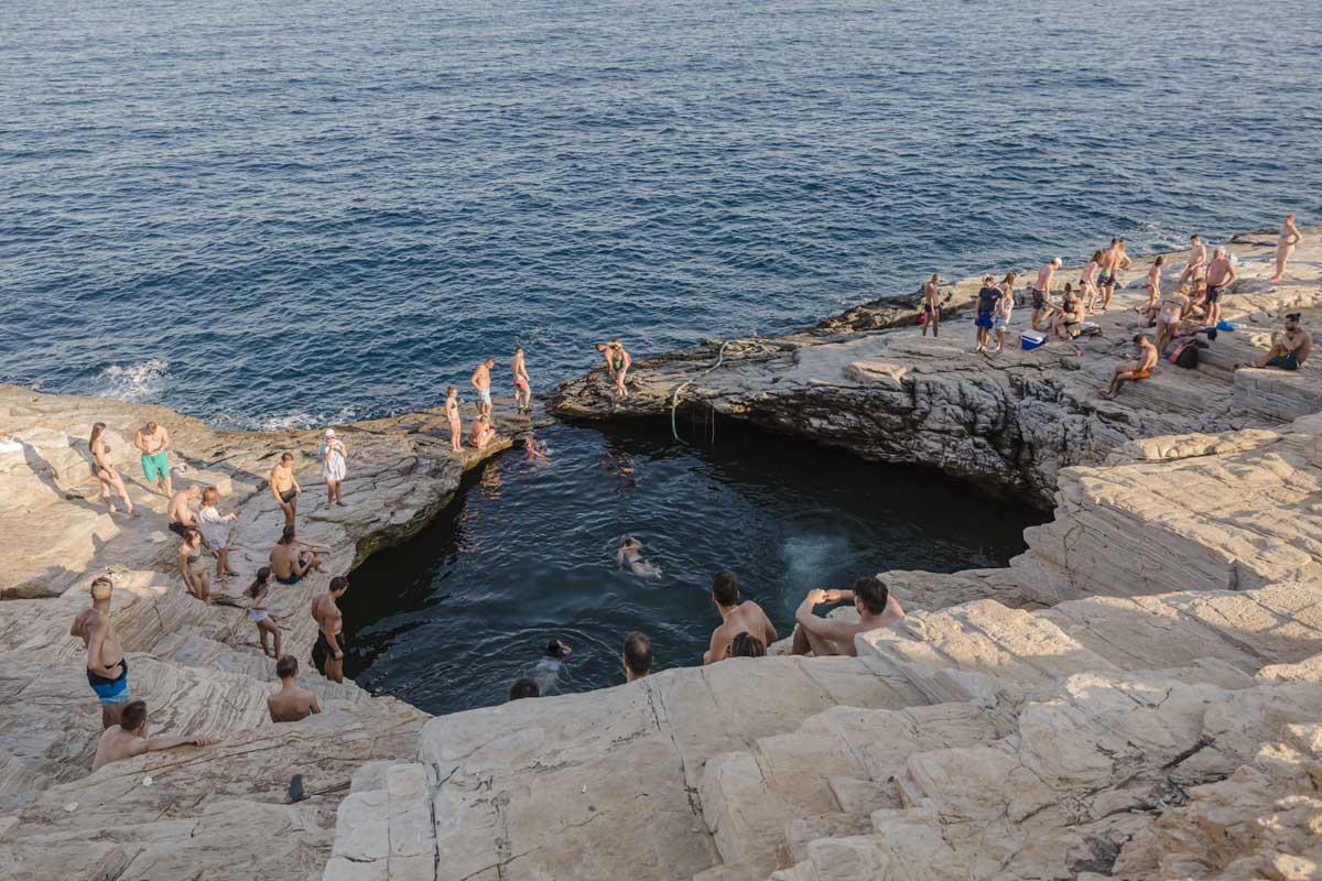 Lagon de Giola à voir sur l'île de Thassos en Grèce