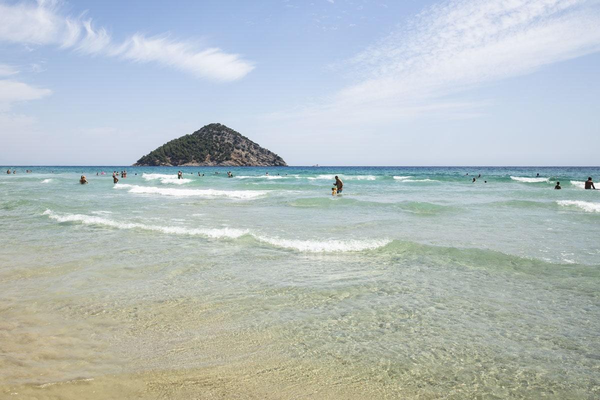 Paradise beach sur l'île grecque de Thassos