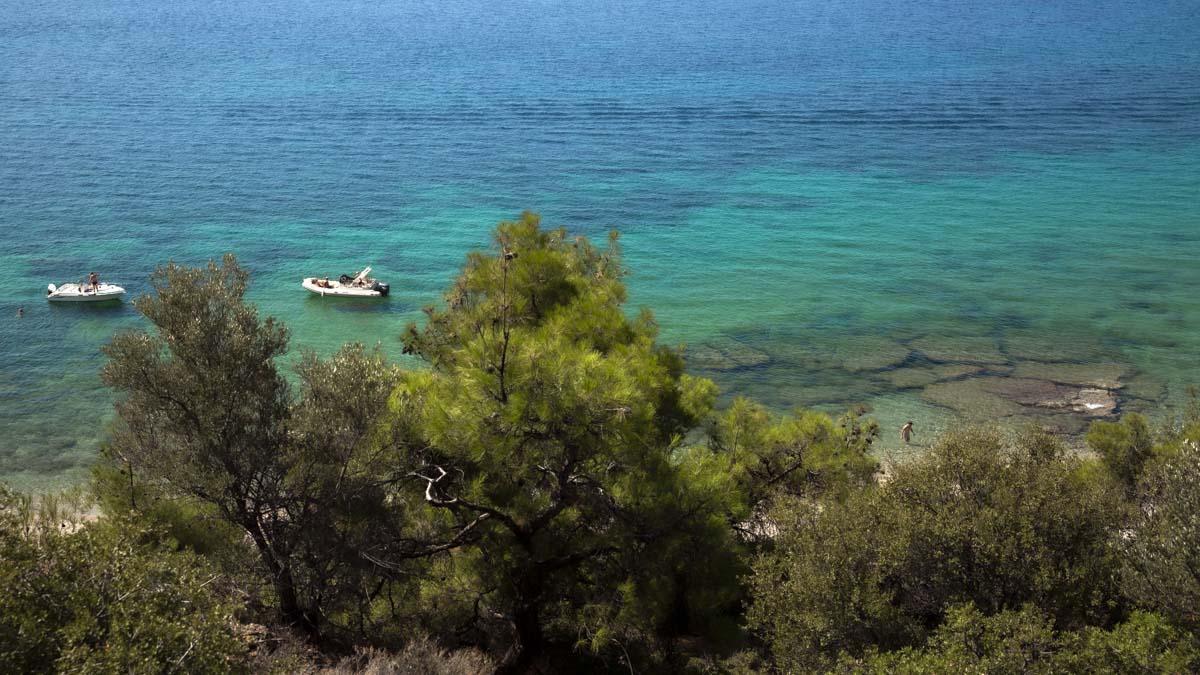 Plage de Fari sur l'île de Thassos en Grèce