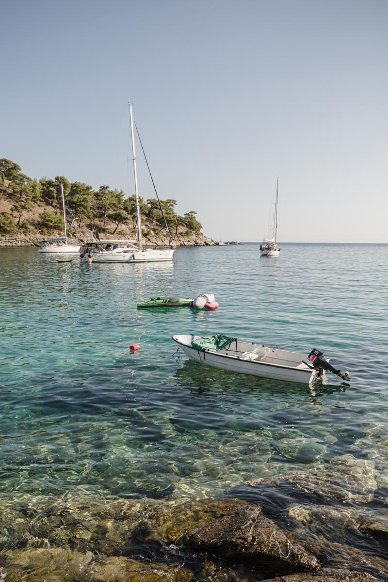 Crique à Alyki sur l'île grecque de Thassos