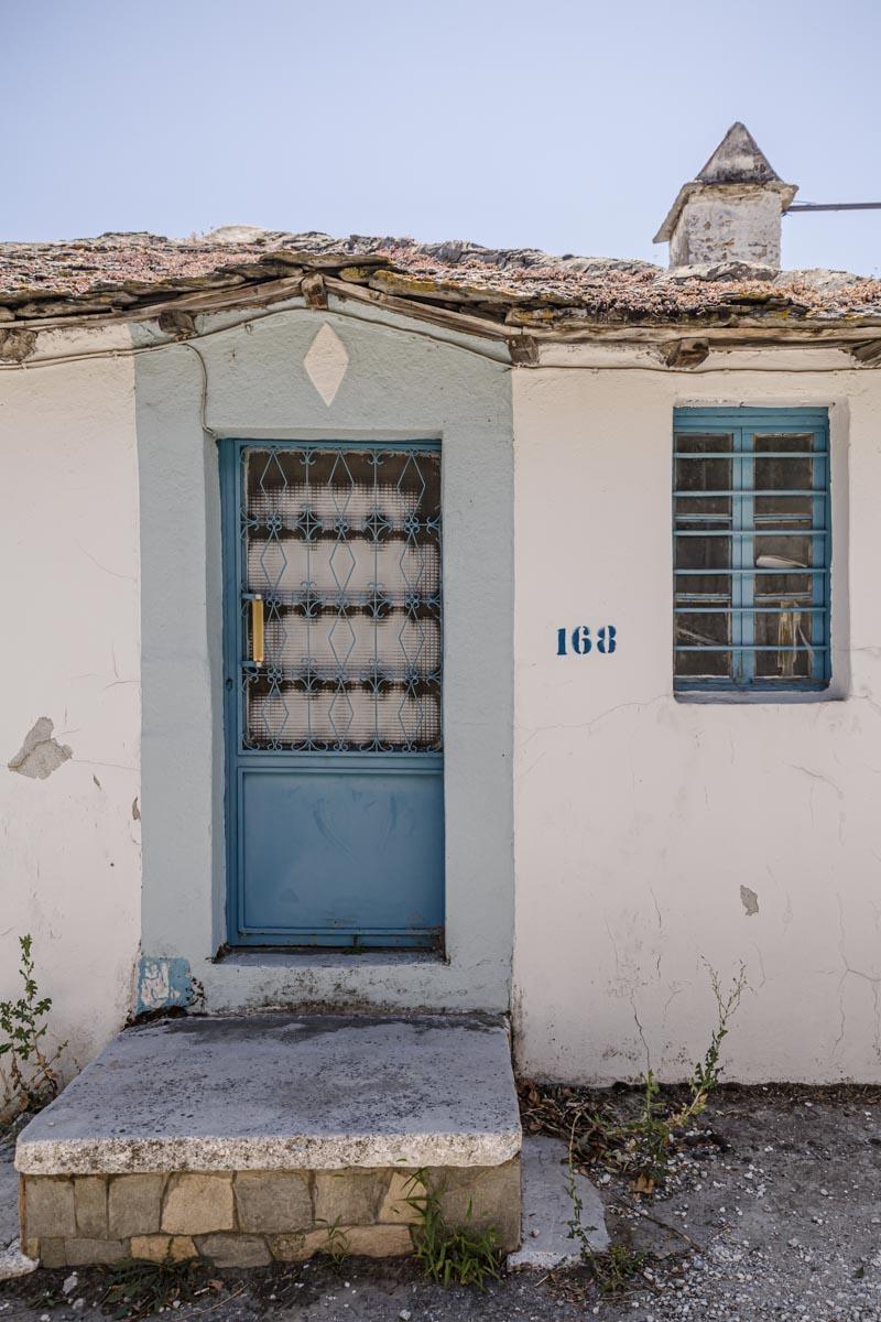 Dans le village de Theolagos à Thassos en Grèce