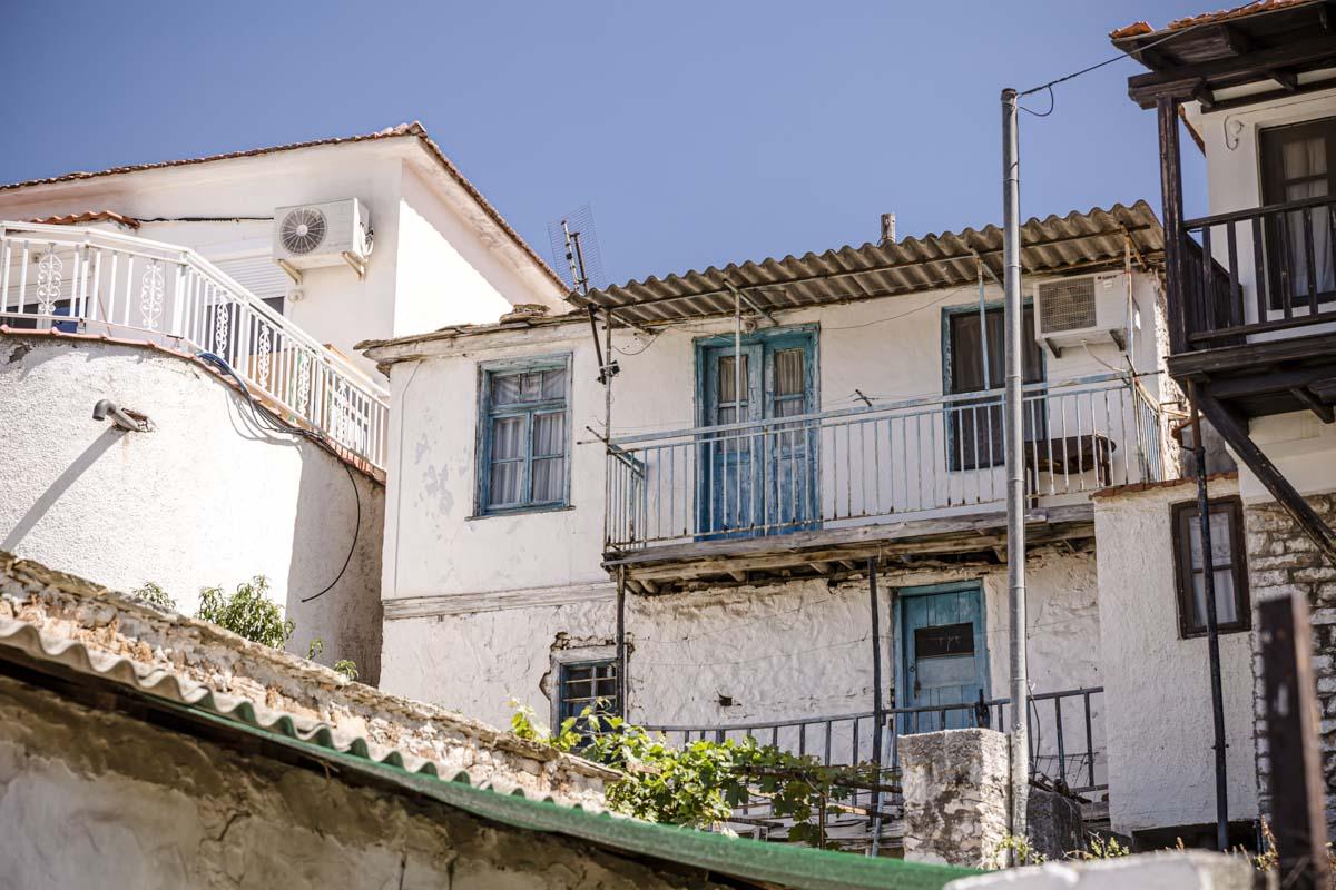 Village de montagne à Thassos en Grèce