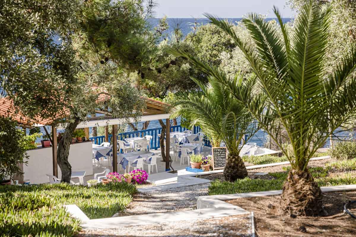 Taverne du Villagio Scorpio bungalow à Thassos en Grèce