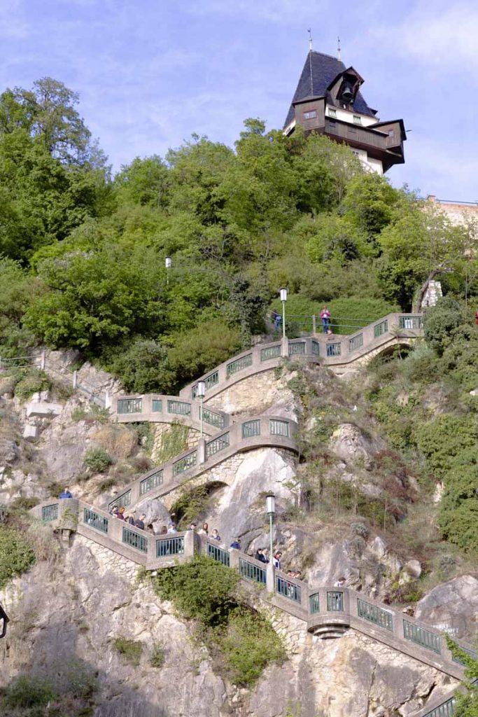 L'escalier de 260 marches pour monter sur Schlossberg. Il a été construit à la 1ère guerre mondiale.