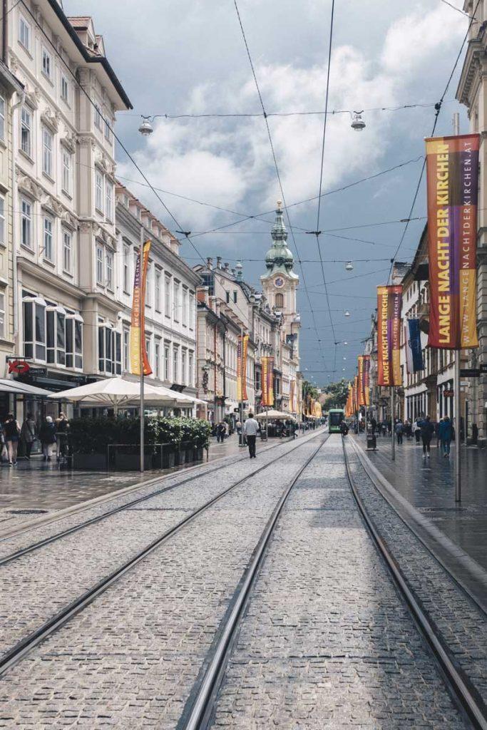 Perspective de Herrengasse à Graz