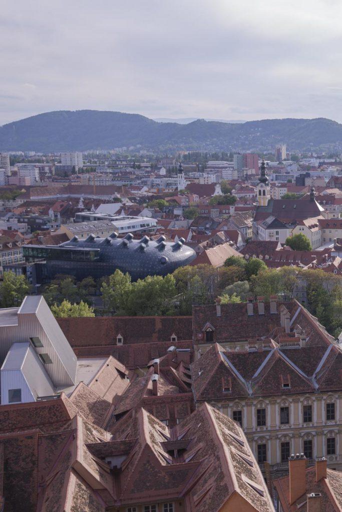 Le gentil alien construit en 2003 lorsque Graz a été désignée ville européenne de la culture