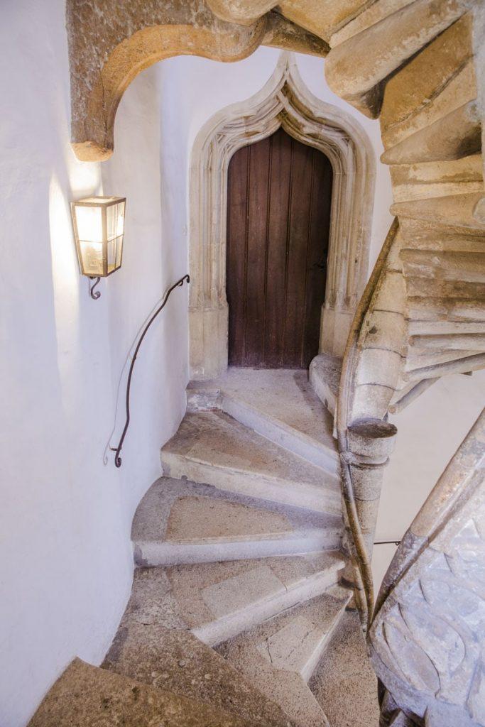 Ajouté en 1499 par Maximilien 1er, ce double escalier à spirale est le seul vestige de l'ancienne résidence de Frédéric III à Graz