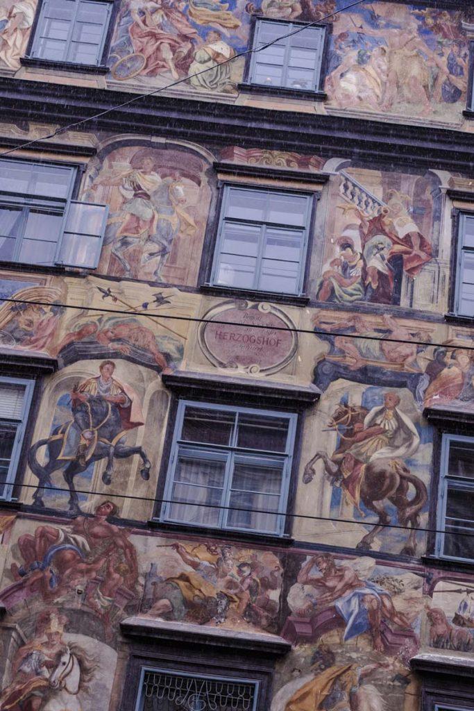 La maison peinte à voir sur Herrengasse à Graz