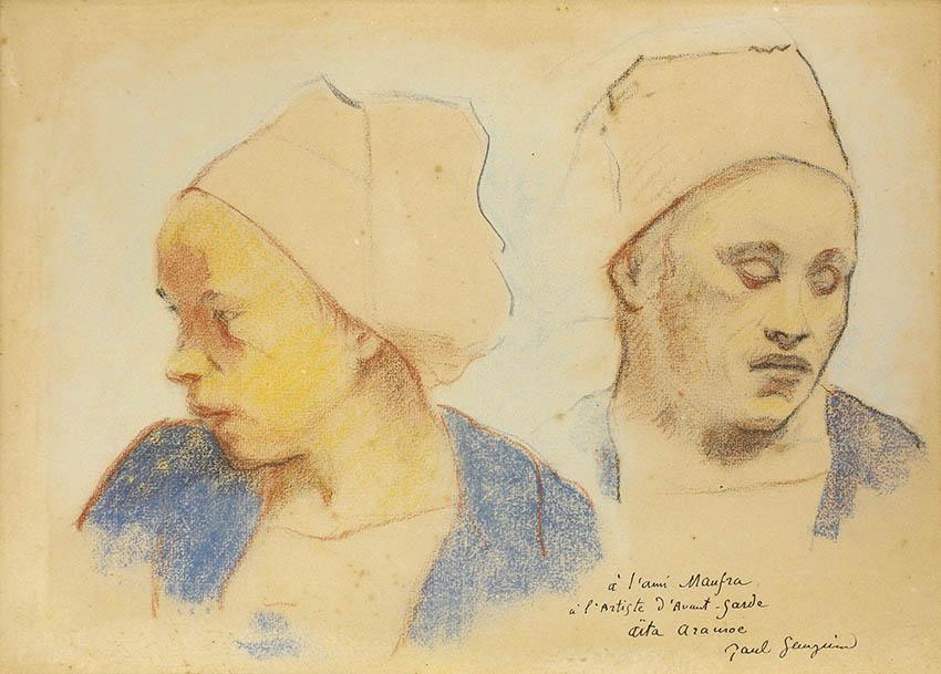 un pastel de deux bretonnes peint en 1894 par Paul Gauguin que l'on peut voir au musée de Pont Aven