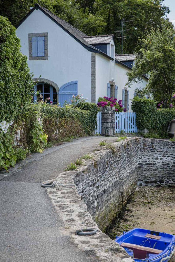 Sur les bords de la Laïta au Pouldu dans le sud du Finistère