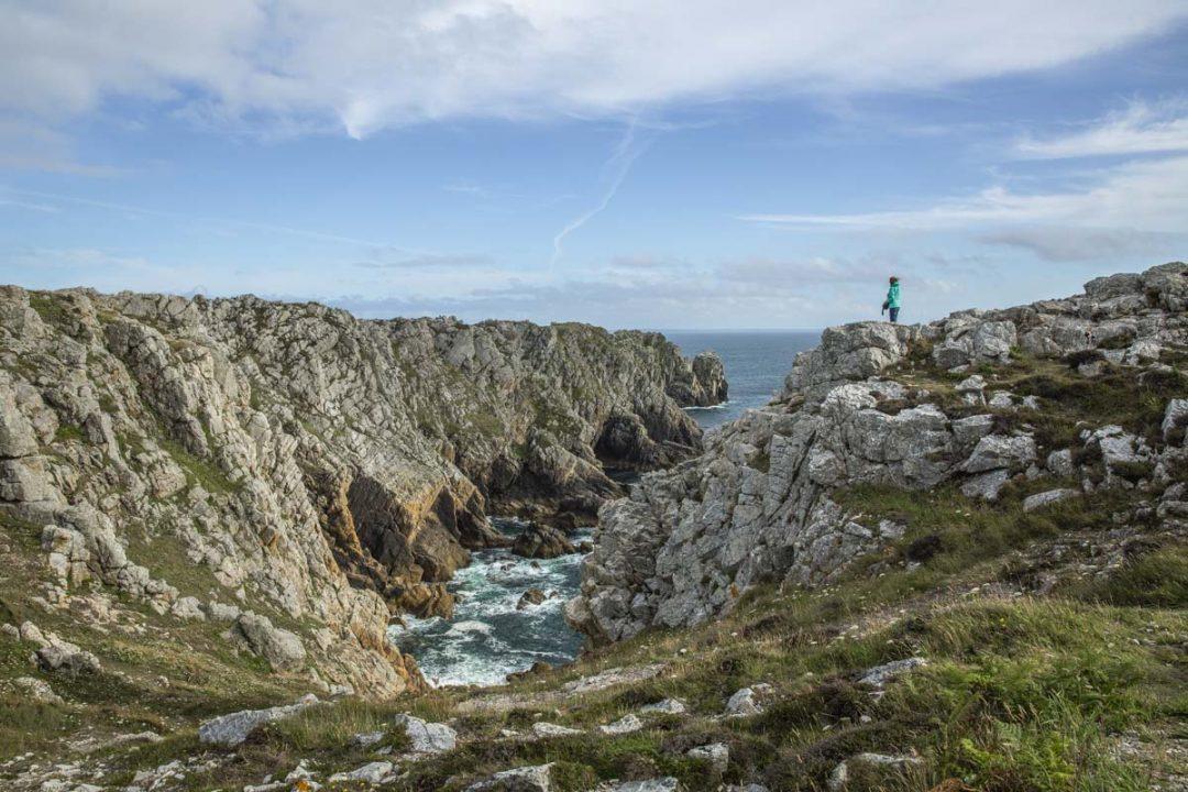 la pointe de Penhir sur la presqu'ile de Crozon dans le Finistère