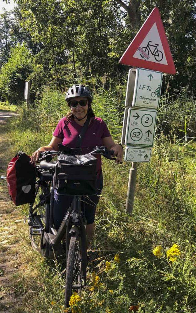 Sur la voie vélo Van Gogh, Pays-Bas
