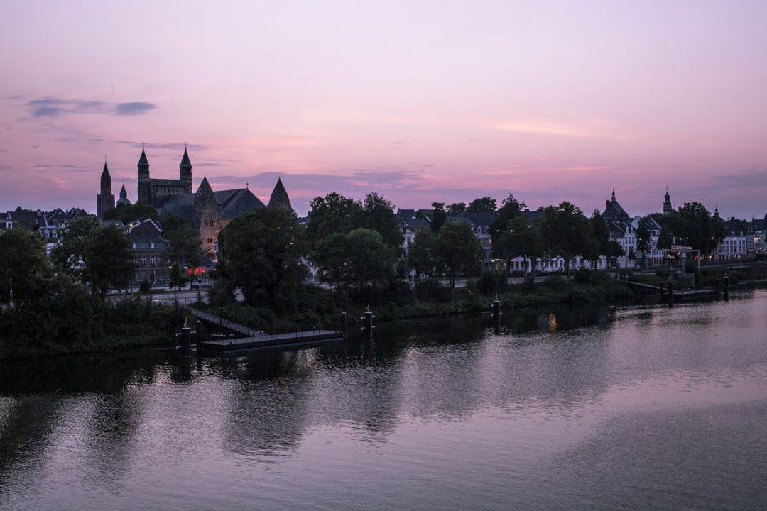 Coucher de soleil sur Maastricht
