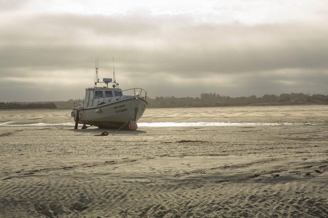 Lever de soleil sur la plage de Port-Bail dans la Manche