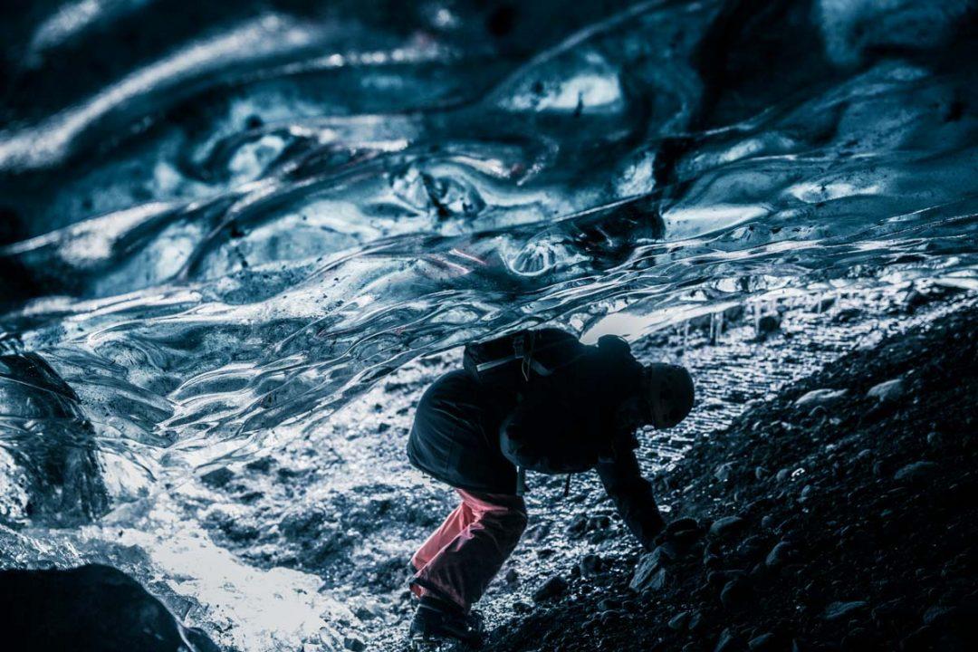 Visite d'une grotte de glace en Islande