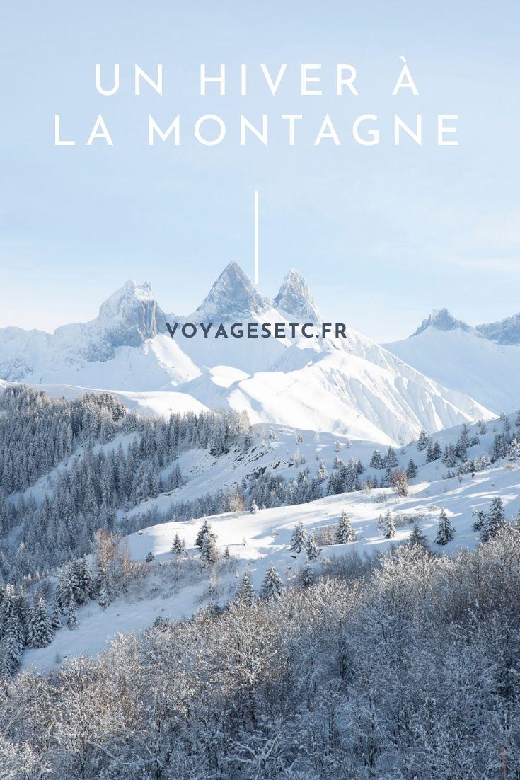 Clichés d\'un hiver à la montagne, sans les remontées mécaniques