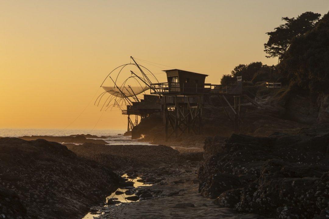Coucher de soleil sur la côte de Jade