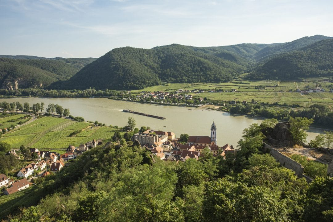 vue sur le Danube à Dürnstein