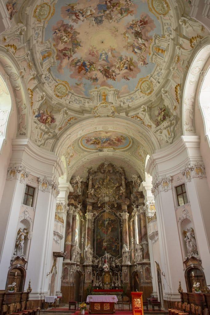 interieur rococo abbaye de Engelzell