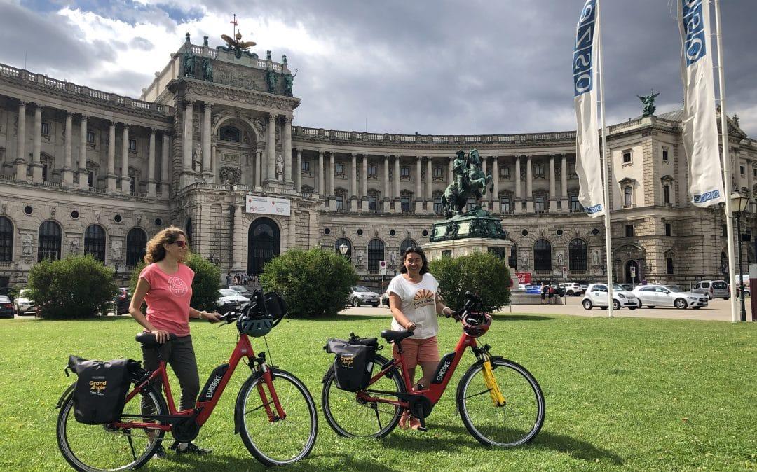 Arrivée à Vienne à vélo