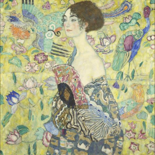 La dame à l'Eventail de Gustav Klimt